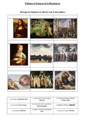 Tableau et fresques de la renaissance – Exercices – Temps modernes – Cm1 – Cycle 3