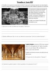 Versailles et  Louis XIV – Exercices – Les temps Modernes – Cm1 –  Cycle 3