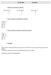 Division - Ce2 - Exercices