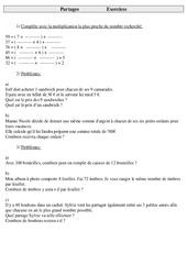 Partages - Divisions - Ce2 - Exercices à imprimer