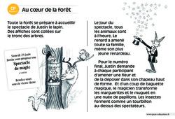 Au cœur de la forêt – CP – Lecture compréhension – Histoire illustrée - Niveau 3