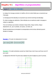 Coder et décoder – 5ème – Cours