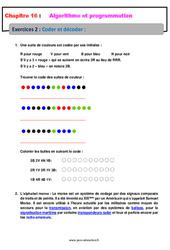 Coder et décoder – 5ème – Exercices avec les corrections