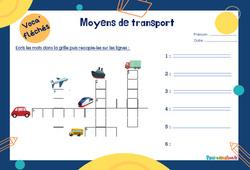 Moyens de transport - CP - Mot étiquette - Voca' fléchés