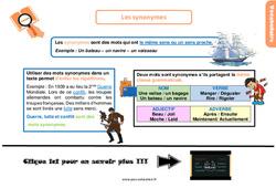 Leçon, trace écrite sur les synonymes au Cm1