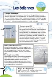 Les éoliennes - CM1 - CM2 - Lecture documentaire