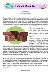L'île de Zaratan – Cm1 – Cm2 – Récit – Lecture