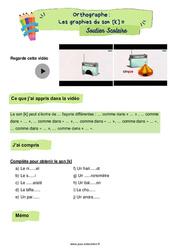 Les graphies du son [k] - CE2 - Soutien scolaire pour les élèves en difficulté.o