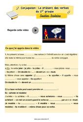 Le présent des verbes du 1er groupe - CM1 - Soutien scolaire pour les élèves en difficulté.