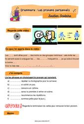 Les pronoms personnels - CE2 - Soutien scolaire pour les élèves en difficulté.