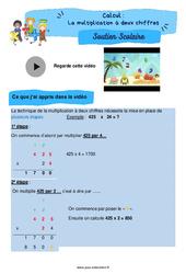 La multiplication à deux chiffres - CM2 - Soutien scolaire pour les élèves en difficulté.