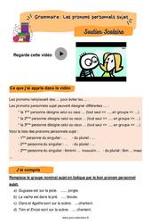 Les pronoms personnels sujet - CE1 - Soutien scolaire pour les élèves en difficulté.