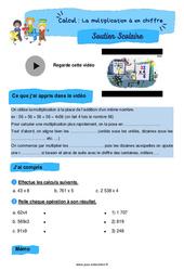 La multiplication à un chiffre - Cm1 - Soutien scolaire pour les élèves en difficulté.