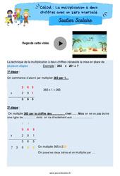 La multiplication à deux chiffres avec un zéro intercalé - Cm2 - Soutien scolaire pour les élèves en difficulté.