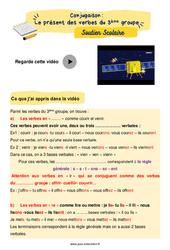 Le présent des verbes du 3ème groupe - Cm2 - Soutien scolaire pour les élèves en difficulté.