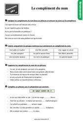 Exercices, révisions sur le complément du nom - Cm1