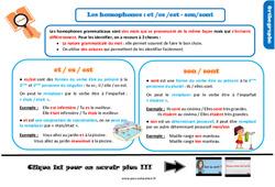 Leçon, trace écrite sur les homophones : et /es /est - son/sont au Cm1