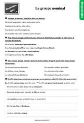 Exercices, révisions sur le groupe nominal : nom + adjectif au Cm1 avec les corrections