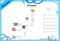 At home - CE1 - CE2 - Mots fléchés - Lexique / vocabulaire - Crosswords