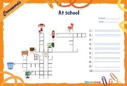 At school - CM1 - CM2 - Mots fléchés - Lexique / vocabulaire - Crosswords