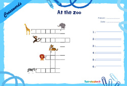 At the zoo - CE1 - CE2 - Mots fléchés - Lexique / vocabulaire - Crosswords