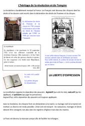 Héritage de la révolution et de l'empire – Exercices – Les Temps Modernes – Cm1 – Cm2 – Cycle 3