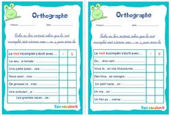 Les homophones : c / ç - Ce1 - Ce2 - Rituels - Orthographe
