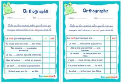 Les homophones : et / est - Ce1 - Ce2 - Rituels - Orthographe
