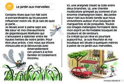 Le jardin aux merveilles – CP – Lecture compréhension – Histoire illustrée - Niveau 3