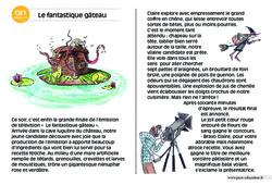 Le fantastique gâteau – CE1 – Lecture compréhension – Histoire illustrée - Niveau 3