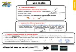 Leçon, trace écrite sur les angles au Cm1