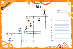 Jobs - CM1 - CM2 - Mots fléchés - Lexique / vocabulaire - Crosswords