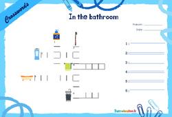 In the bathroom - CE1 - CE2 - Mots fléchés - Lexique / vocabulaire - Crosswords