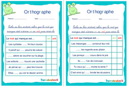 Les homophones : on / ont - Ce1 - Ce2 - Rituels - Orthographe