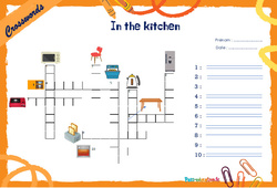 In the kitchen - CM1 - CM2 - Mots fléchés - Lexique / vocabulaire - Crosswords
