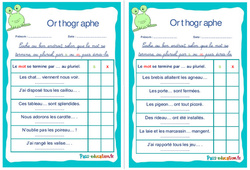 Pluriel des noms en –s ou en –x - Ce1 - Ce2 - Rituels - Orthographe