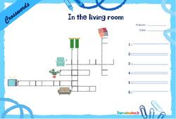 In the living room - CE1 - CE2 - Mots fléchés - Lexique / vocabulaire - Crosswords