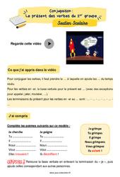 Le présent des verbes du 1er groupe - CE1 - Soutien scolaire pour les élèves en difficulté.
