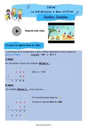 La multiplication à deux chiffres - Cm1 - Soutien scolaire pour les élèves en difficulté.