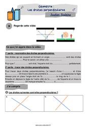 Les droites perpendiculaires - Cm1 - Soutien scolaire pour les élèves en difficulté.