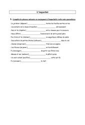 Imparfait - Ce2 -  Exercices - Conjugaison - Cycle3