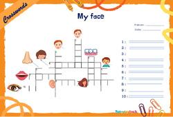 My face - CM1 - CM2 - Mots fléchés - Lexique / vocabulaire - Crosswords