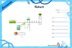 Nature - CE1 - CE2 - Mots fléchés - Lexique / vocabulaire - Crosswords
