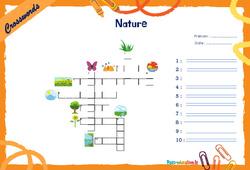 Nature - CM1 - CM2 - Mots fléchés - Lexique / vocabulaire - Crosswords