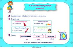 L'accord dans le groupe nominal - Cycle 3 - Affiche