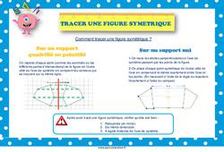 Tracer une figure symétrique - Cycle 3 - Affiche de classe
