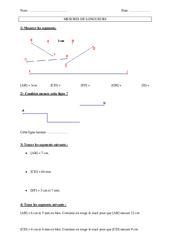 Mesure de longueur - Ce2 - Exercices