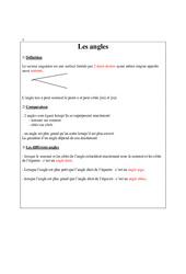 Angles  – Leçon - Cm2 – Géométrie – Cycle 3