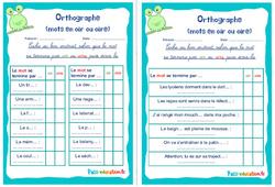 Les mots en oir ou oire - Ce1 - Ce2 - Rituels - Orthographe