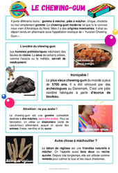 Le chewing-gum - Ce1 - Ce2 - Lecture documentaire